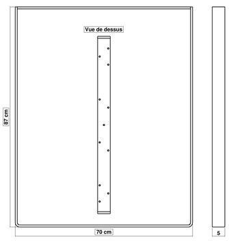 Dimensions pied de table de cuisine BaYa 870 x 700 mm