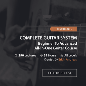 Online Music Courses - Complete Guitar System, Beginner To Advanced All-In-One Guitar Course. Art God & Love Inc. Copyrights ©2017