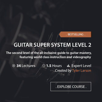 Online Music Courses - Guitar Super System Level 2. The second level of the all-inclusive guide to guitar mastery, featuring world class instruction and videography. Art God & Love Inc. Copyrights ©2017