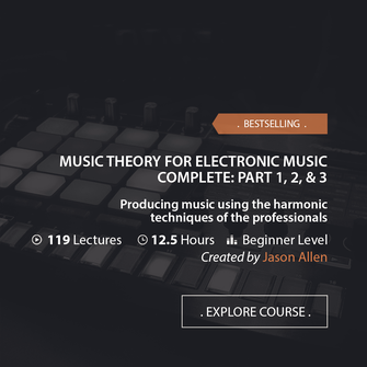 Online Music Courses - Music Theory For Electronic Music Complete: Part 1, 2, & 3. Art God & Love Inc. Copyrights ©2017