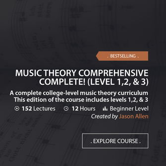 Online Music Courses - Music Theory Comprehensive Complete! Level 1,2, & 3. A complete college-level music theory curriculum. This edition of the course includes levels 1,2, & 3. Art God & Love Inc. Copyrights ©2017