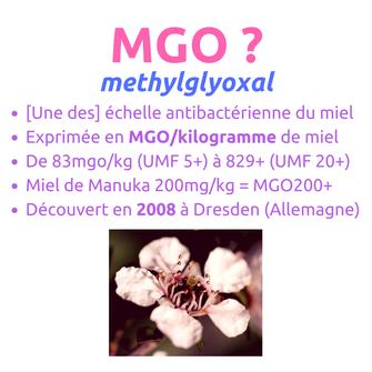 MGO Methylglyoxal miel de Manuka