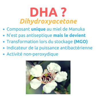 DHA Dihydroxyacetone miel de Manuka