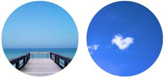 Bleu comme l'océan ou le ciel, pour s'évader