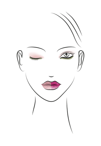 Make-up Collection Spring Summer Exotic Pink Look Skizze