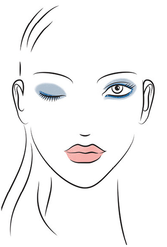 Make-up Collection Spring Summer Modern Blue Look Skizze