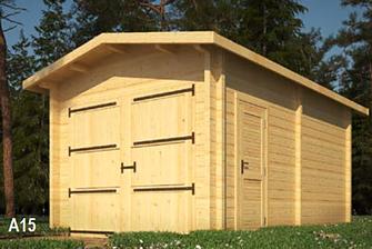 Abri de jardin garage 17.5m²