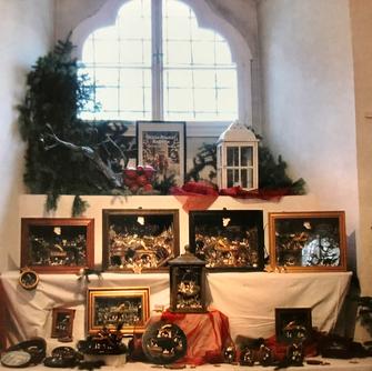 Schloss Lamberg Advent, Weihnachtsausstellung Steyr 2021, Elfriede Sachers - Loammandlkrippen
