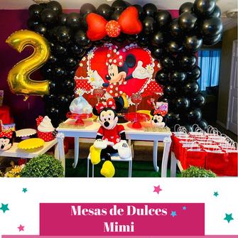 diseño de mesa de dulces para niña
