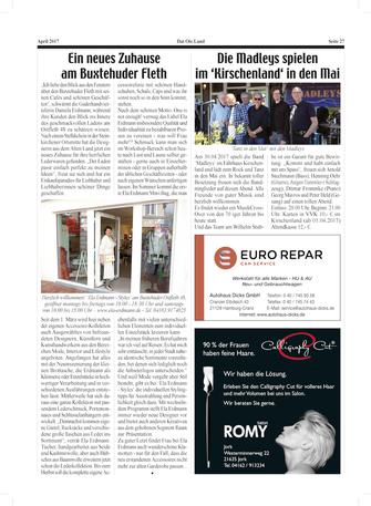 "Bericht im Magazin ""Dat Ole Land"""
