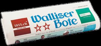 Zeitung Walliser Bote Printausgabe