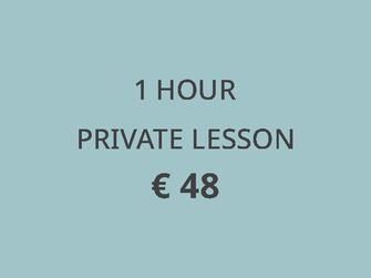 price tennis lesson