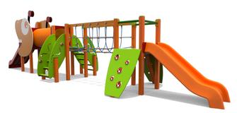 trenino materna iochi per parco, giochi per parchi, attrezzature per parchi gioco, strutture ludiche Stileurbano Ciuffo Baobab certificati Norma EN1176 CATAS stileurbano oratorio FOM odielle abbiategrasso