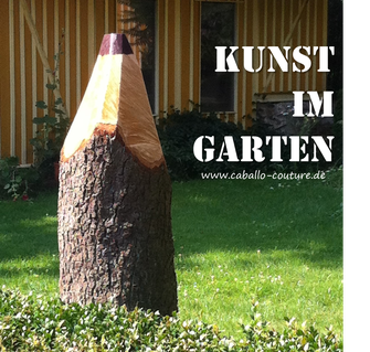 Caballo Couture, Holz, Baum, Upcycling, DIY, Gartengestaltung