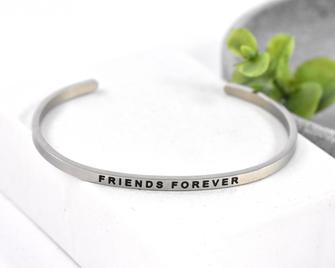 Armreif Edelstahl never Friends forever