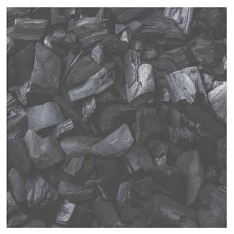 Foto aus Kohle wird Obsidian Edelstein