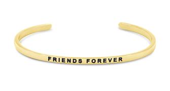 Armreif vergoldet Friends forever