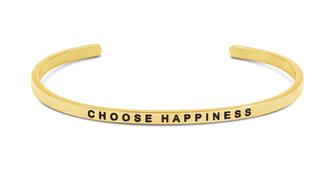 Armreif vergoldet Choose Happiness