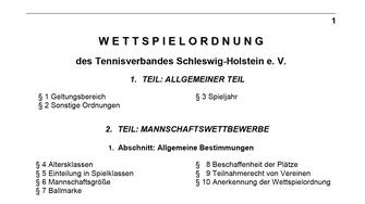 Wettspielordnung des Landesverbandes Schleswig-Holstein