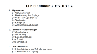 Turnierordnung DTB