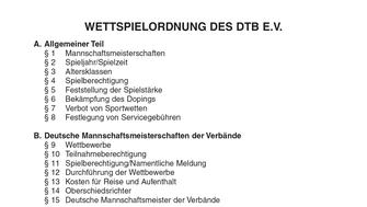 Wettspielordnung des DTB