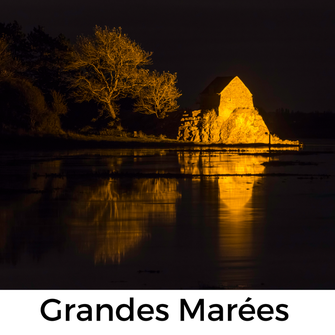 Grandes Marees am Havre von Saint-Germain in der Normandie