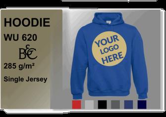Hoodie mit Logo drucken
