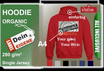 Herren Hoodie mit dein eigene Label jetzt bestellen