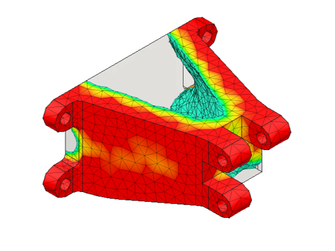 Topologieoptimierung, Simulation, Bauteiloptimierung