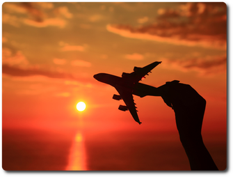 Aircraft Hand Sunset