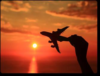 Aircraft Hand Sunset