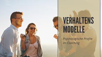 Verhaltensmodelle. Martina M. Schuster
