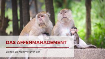Ziehen Sie Klammeraffen an? Das Affenmanagement. Blogartikel von Martina M. Schuster