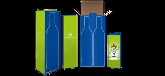 Weinflaschenverpackung, Verpackung drucken