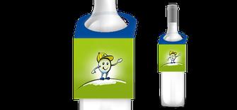 Flaschenwerbung, Flaschenanhänger drucken, Flaschenpräsent