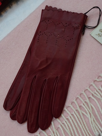 Leather gloves for woman