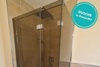 Dusche Duschverglasung Ötztal Bahnhof