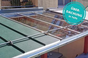 Terrassenüberdachung Glasüberdachung in Telfs