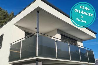 Glasgeländer Balkon Serfaus