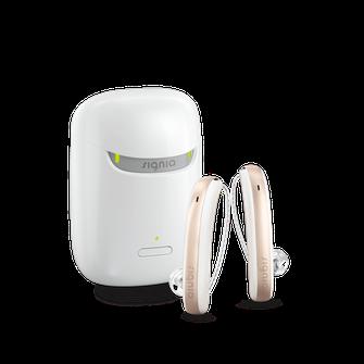 シグニア補聴器(シーメンス補聴器)充電式RIC耳掛け型補聴器