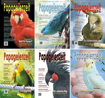 Die Ausgaben der Papageienzeit aus dem Jahrgang 2014