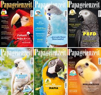 Die Ausgaben der Papageienzeit im Jahrgang 2019