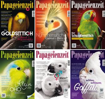 Die Ausgaben der Papageienzeit aus dem Jahrgang 2016