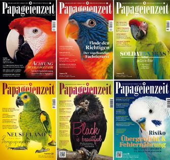 Die Ausgaben der Papageienzeit im Jahrgang 2017