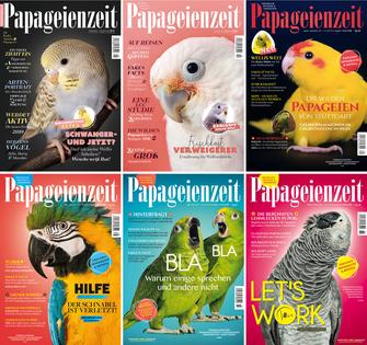 Die Ausgaben der Papageienzeit im Jahrgang 2018