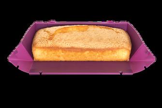 coox Wunderform geöfnnet mit Zitronenkuchen, Silikon-Backform, Backform zum Falten, faltbare Silikon-Backform, kochen, backen, Alltagshelfer