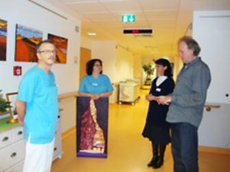 Oberarzt Dr. Iffert u. Schw. Heike (li.), Frau Dr. Brocke u. Herr Sehrt (re.)