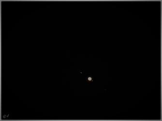 """Der Jupiter mit seinen Monden am 22. August 2021 - er befindet sich in der Nähe des """"Blauen Mondes"""""""