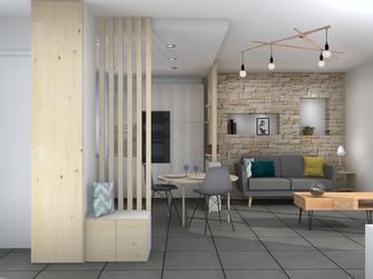 architecture d'intérieur lyon décoration appartement rénovation style cocooning scandinave chaleureux pièce à vivre aménagement intérieur