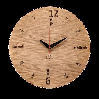 Holz Wanduhr Tafinity modern Wohnzimmer